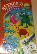 LPF Stencils - Tracing & Drawing Fun - Monsters - Stencils & 3 Markers