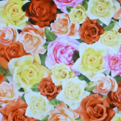 Roses-Mixed Roses by Red Rooster Digital Cotton Fabric