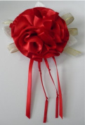 Red Ribbon Rose Corsage