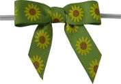 Medium Sunflower Twist Tie Bows- 100pc