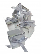 30 Mini Silver Cube Favour Boxes; Minimum Assembly Required; Ideal for any occasion