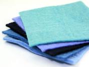Handmade Felt 15 cm Squares made of 100% Nepal Wool