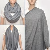 Grey nursing cover scarf, nursing cover, nursing scarf, infinity scarf, breastfeeding cover, nursing infinity scarf, Baby Shower Gift