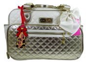 Betsey Johnson Nappy Bag with Changing Mat in Gold