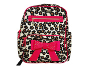 Betsey Johnson Back Pack Nappy Bag Leopard and Pink