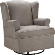 Baby Relax Colby Swivel Glider, Dark Taupe Relax and Attend to Baby