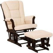 Storkcraft Tuscany Baby Glider and Ottoman, Espresso and Beige