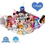 "Toy Net, ""STUFFIE PARTY HAMMOCK"" Organiser Holder Of Your Stuffed Animals Friends. Party Net Spans 210cm x 130cm x 130cm by Lilly's Love, High Quality Toy Room Storage Solutions, and Organiser"