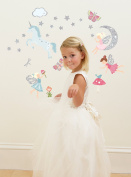 Funtosee Glittering Fairy Wall Decals