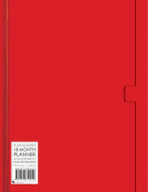 Red Large Plain & Simple 18 Month Planner 2017