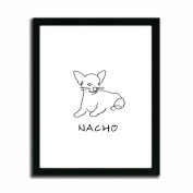 Chihuahua - Personalised Framed Dog Line Drawings - Perfect and Unique Gift for Dog Lovers!