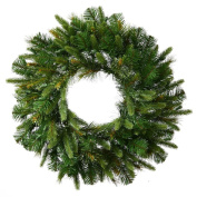 Vickerman Cashmere Pine Wreath-Unlit, 60cm , Green