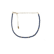 Ettika Mean One Thing Gold Tone Blue Beaded Choker Necklace