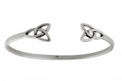 Sterling Silver Celtic Trinity Knot Cuff Bracelet, Triquetra