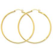 14K Yellow Gold 48mmx2mm Lightweight Classic Round Hoop Earrings