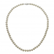 "ELEGANT ""AAA"" QUALITY FRESHWATER CULTURED PEARL STRAND NECKLACE 5.5-6MM WITH 14KWG CLASP, 18"""