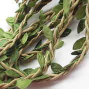 10M Artificial Vine Fake Foliage Leaf Plant Garland Rustic Wedding Home Decor