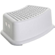 Dreambaby Anti-Slip Step Stool, Grey, Made from Sturdy, Durable and Lightweight Plastic