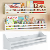 Children's Wood Wall Shelf Multi Purpose 80cm Bookcase Toy Game Storage Display Organiser Traditional Country Moulding Style Ships Fully Assembled