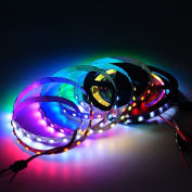 BTF-Lighting 13.1ft 4m WS2812b 60leds/pixels/m Flexible Individually Addressable Led Strip Dream Colour Non-waterproof DC5V