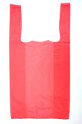 Plastic Bag-Pink Plain Embossed T-Shirt Bag 20cm x 10cm x 38cm 14 mic - 1500 bags/case