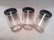3 PACK of GLASS MEDICAL HERB STASH JARS odour PROOF AIR TIGHT with SCREW TYPE LID