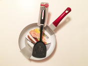 Axentia 25cm Pan with Ceramic Non-Stick Coating Features and 36cm Betty Crocker Slotted Nylon Spatula Turner 2-piece Bundle