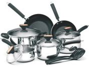 Paula Deen Signature Stainless Steel II 12-Piece Cookware Set