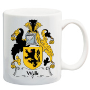 Wells Coat of Arms / Wells Family Crest 330ml Coffee/Cocoa Mug