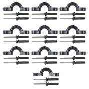 10 Pcs Kayak Nylon Bungee Deck Loops Tie Down Kayak Pad Eye with rivets for kayaks