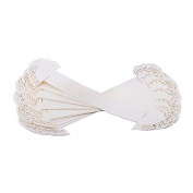LEORX Paper Heart Napkin Ring Wedding Party Table Decoration White Pack of 50