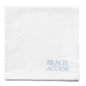 Harman Cotton Napkins Set of 4 16x16 w Printed Text Beach Access
