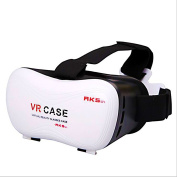 Ugetde 3D VR Glasses Virtual Reality Headset VR Case Stereo Vision Suitable for Google, iPhone, for for for for for for for for for Samsung Note, LG, Huawei, HTC, Moto screen smartphone within 15cm