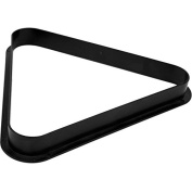 Official Size Plastic Eight Ball Billiard Triangle Rack - Includes Bonus Chalk Holder!