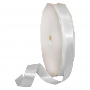 Morex Ribbon 08816/50-029 Double Face Satin Polyester Ribbon, 1.6cm by 50-Yard, White