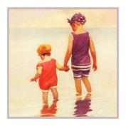 Child Feet Wet Beach By Jessie Willcox Smith Counted Cross Stitch Pattern