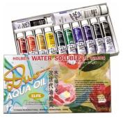 Holbein Duo Aqua Oil Colour - Elite Colour Set of 12 20 ml Tubes