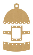 Eyeconnect Crafts Chipboard Lace, Up, Birdhouse, 6.9cm by 20cm