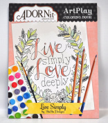 Live Simply Colouring Book