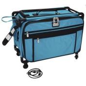 "TUTTO Machine On Wheels Case 50cm x 34cm X12""-Turquoise"