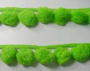 Giant Jumbo Lime Green Pompom Extra Big Bobble Fluffy Ball Fringe Trim Braid Sewing Embroidery