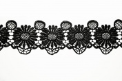 Altotux 7cm Black Flower Guipure Venice Lace Trim Sewing Notions By Yardage