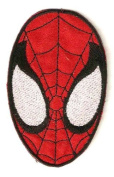 Spider-man Mask Costume Head Embroidered Iron On / Sew On Patch