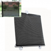 Malloom 40*60cm Retractable Car Window Rear Sun Shade Sunshine Blocker Baby Sun Protector