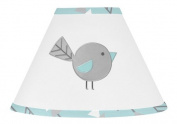 Turquoise Blue and Grey Earth and Sky Collection Bird Baby, Childrens Lamp Shade