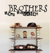 BROTHERS BEST BUDDIES VINYL WALL DECAL STICKER KIDS BOYS ROOM HOME DECOR