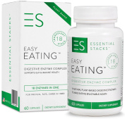 EASY EATING - Natural Plant-Based Digestive Enzymes For ALL Types of Food, Inc Gluten, Sugar And Dairy. GUARANTEED To Reduce Occasional Indigestion, Reflux & Bloating Or Money Back. Made In USA.