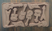Guitars Music instruments Silicone Candy chocolate Mould Mini Cake Pan