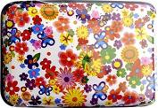 Flowers Aluminium Wallet