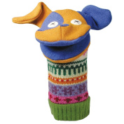 Cate and Levi 30cm Handmade Puppy Dog Hand Puppet (Premium Reclaimed Wool), Colours Will Vary